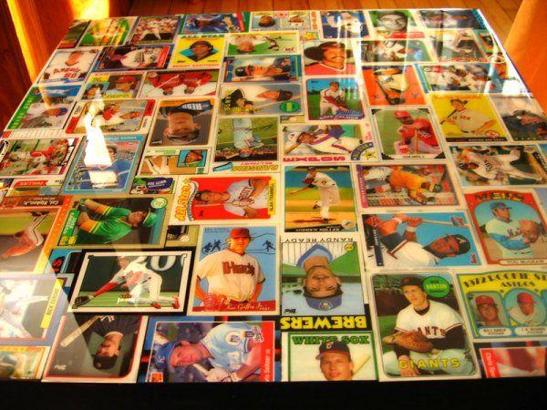 Baseball Card Coffee Table