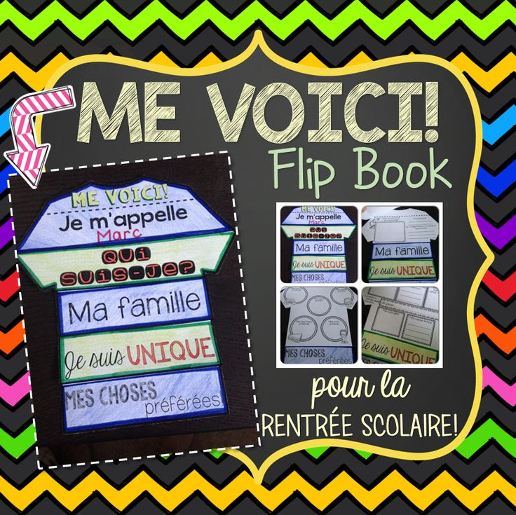This file includes a fun and interactive French All About Me/Me Voici Flip Book for Back-to-School. The flip book includes a total of 5 pages and is very easy to cut and assemble. No glue required! This is a great way for students to share information about themselves and introduce themselves to their class at the beginning of the year. The final result makes for a great display!