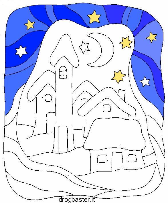 Disegni natalizi per bambini da colorare. Presepio, Albero di Natale, calendario, natività.