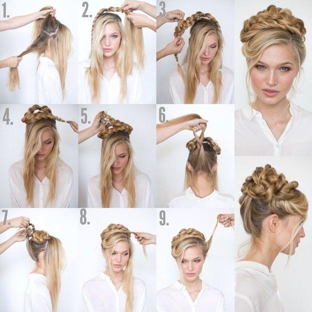 Fantastic 1000 Images About Hair Tutorials On Pinterest Chignons Updo Short Hairstyles Gunalazisus