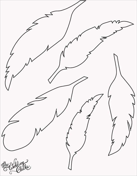 FREE printable feather templates for feather buntings or other art projects