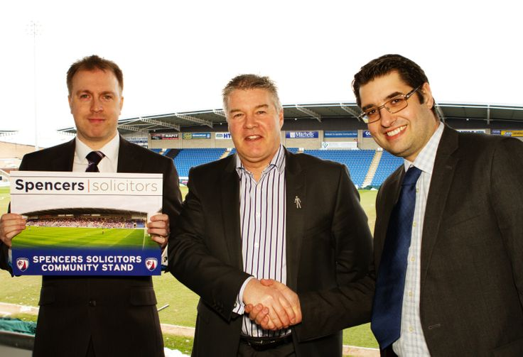 Spencers Solicitors become Chesterfield FC Community Stand sponsors on 26th March 2013