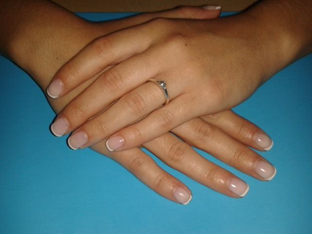 classic french manicure!