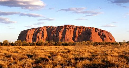 Impresionante Uluru (Ayers Rock) de Australia