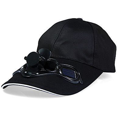 Solar Power Fan Cap Sunhat with Air Fan for Summer Outdoor Sports Cycling 5070436 2017 – $18.06