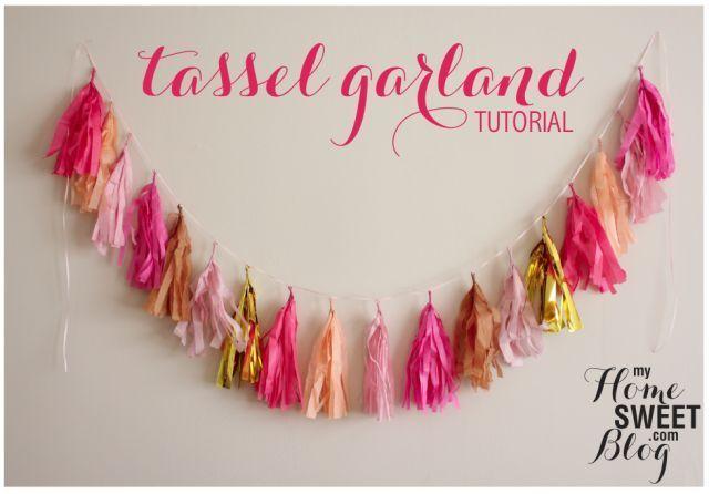 何の材料で作る?素材別可愛い「タッセルガーランド」の作り方&飾り方まとめ♡にて紹介している画像