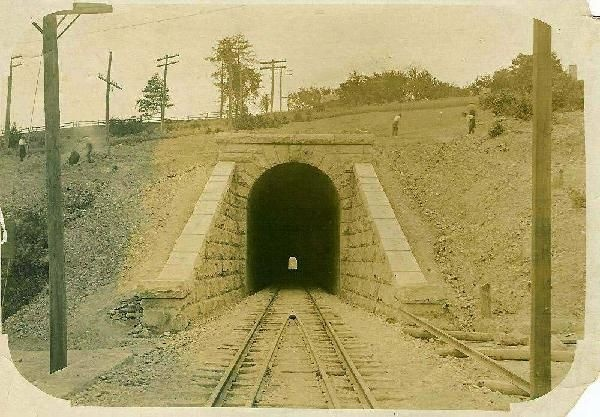 RR Tunnel 1110' long about 1900  Clinton Ma.