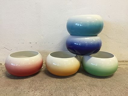 Figgjo bowls with Figgjo Skygge in different colours
