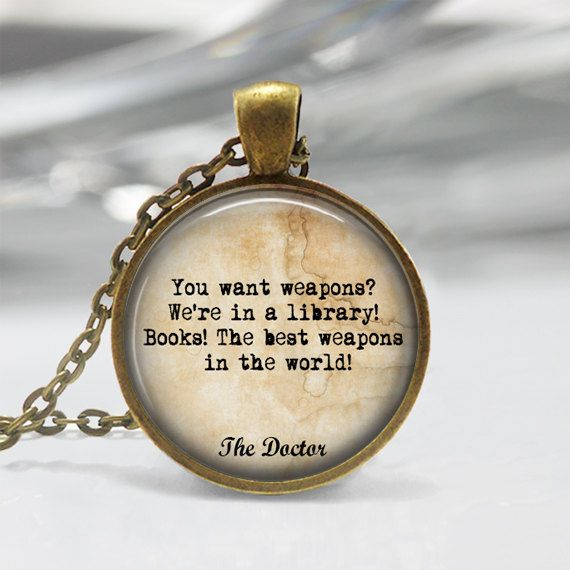 Doctor Who quote necklace or keychain You by Symphonyofthemind