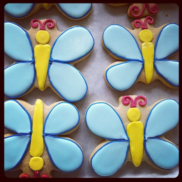 """You give me butterflies."" Butterfly sugar cookies @Whipped Bakeshop"