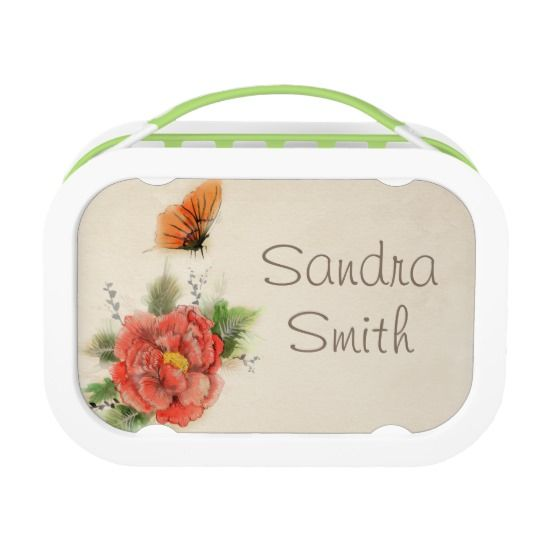Butterfly & Flower Personalized Yubo Lunch Box