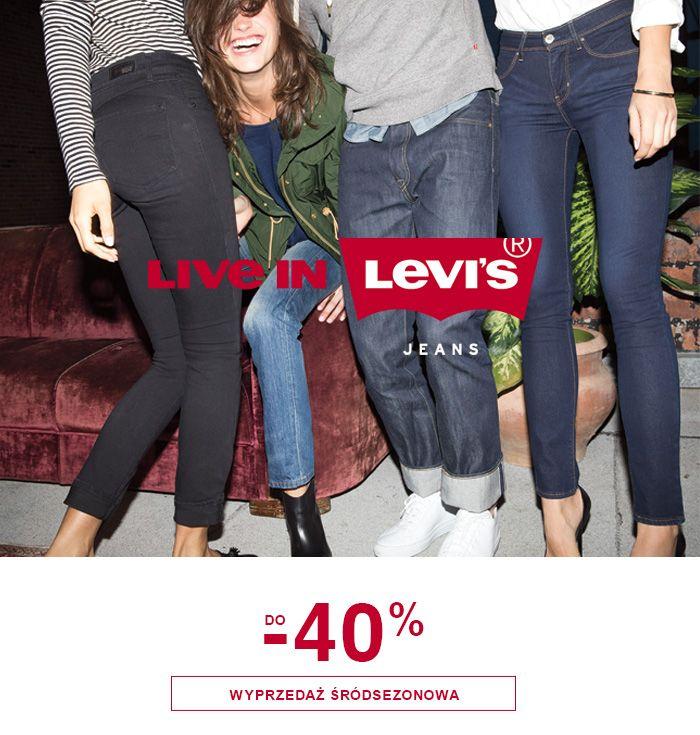 Wyprzedaz srodsezonowa do-40% #wyprzedaz #srodsezonowa #sale #sale40 #levis #jeanspl