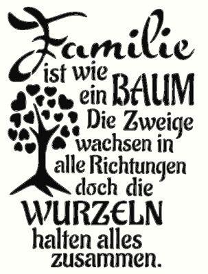 Shabby Schablone Möbel Schild Wand Stoff Holz tafel kreide spruch Familie Baum