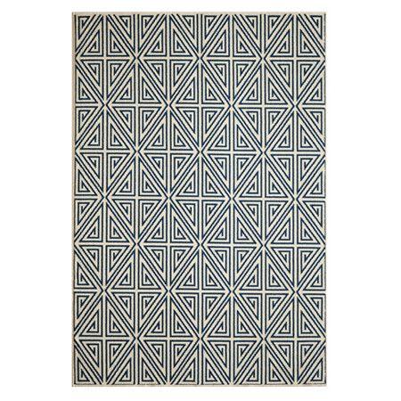 baza navy geometric rug: Geometric Rug