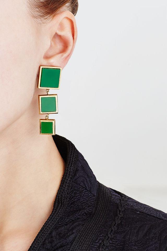 Винтажные клипсы (80-e) Nina Ricci - Винтажные клипсы из коллекции Nina Ricci в интернет-магазине модной дизайнерской и брендовой одежды