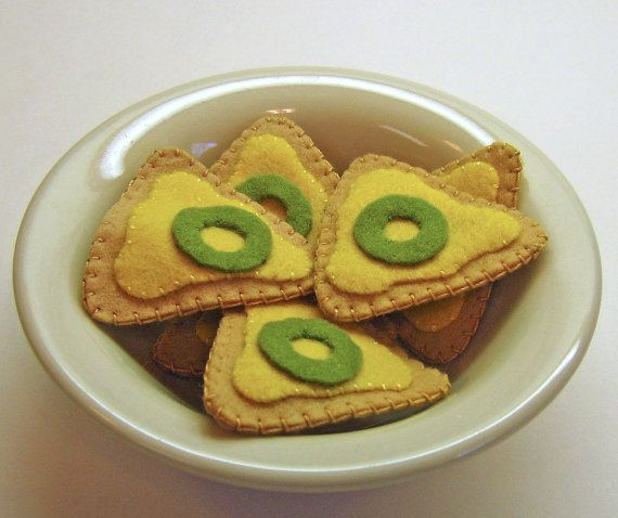 New Item Pretend Felt Play Food  Nacho Chips  Kid's by EvaLauryn