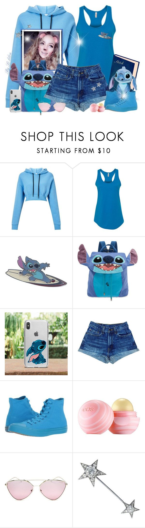 """""""~ Stitch Party! ~"""" by li-lilou ❤ liked on Polyvore featuring Miss Selfridge, Disney, Converse, Eos, Prada and Bloomingdale's"""