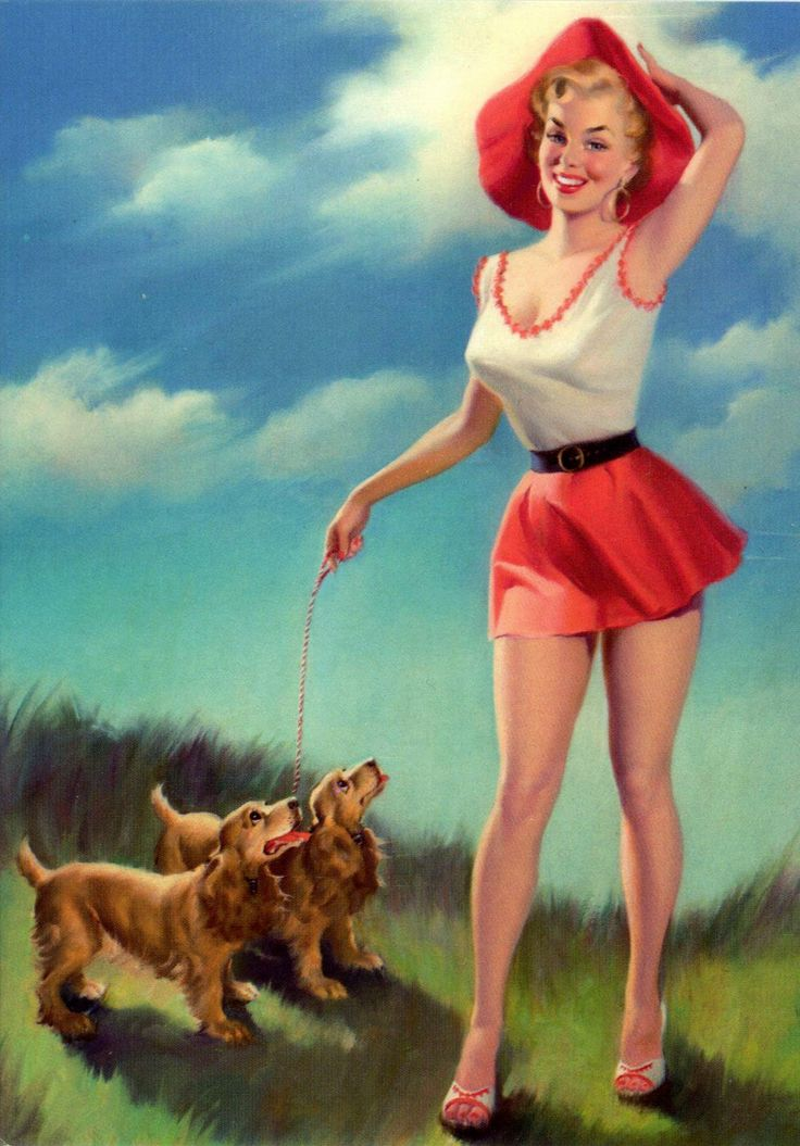 UNITED STATES - A pin-up by Harry Ekman
