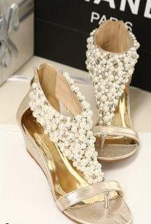 Beaded Pearl Sandal $59.99USD