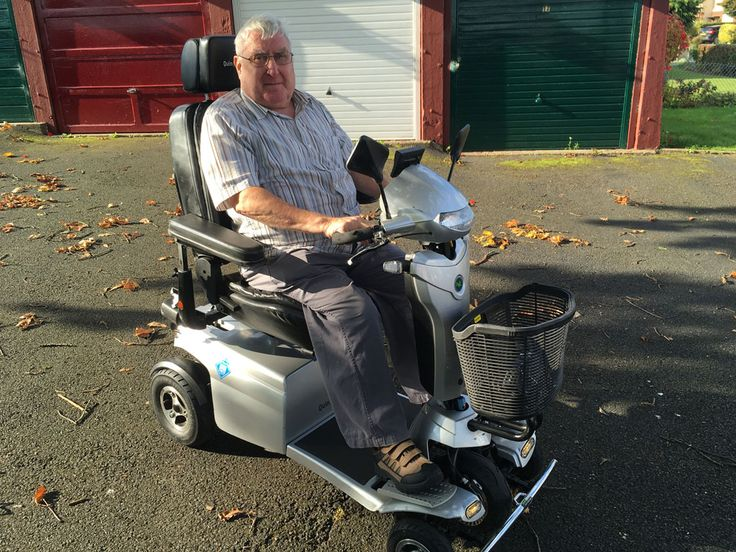 Mr Morris on his new Toura 2 mobility scooter get your demo here http://contact.quingoscooters.com/social-mobility-scooters