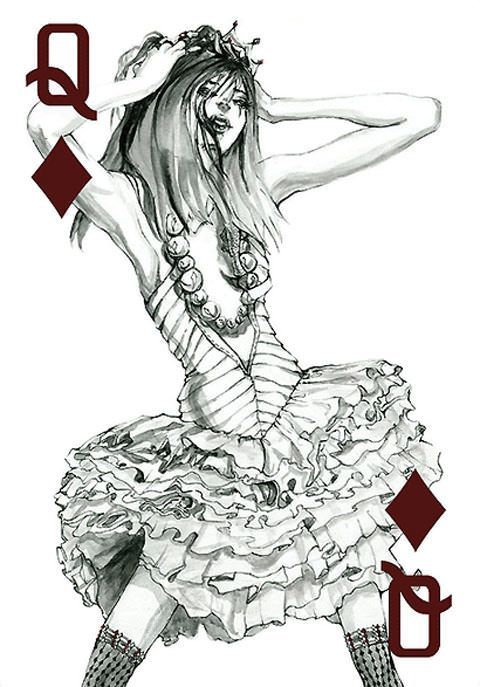 My Fashion Playing Cards Series is a body of work focusing on fashion illustration. Using pen and ink, gouache, and micron pens, I created these women who
