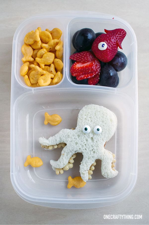 Amazing under the sea themed school lunch!