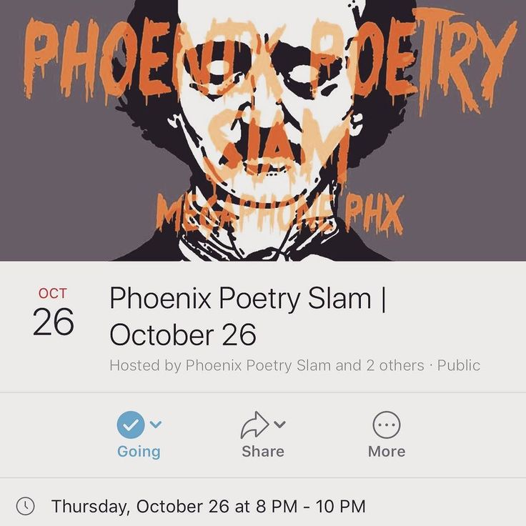 ANNOUNCEMENT No. 1:  I'm competing at the next Phoenix Poetry Slam on 10/26. I'll face off against 9 other spoken word poets. This event is special for multiple reasons including the fact I'll perform for the first time publicly. As well it'll be days before Halloween and you can expect me to perform some of the darkest poems your ears have ever heard. If you live in or near Phoenix get your ticket now. Get yourself in one of the limited seats to see me live! @lawngnomepublishing…