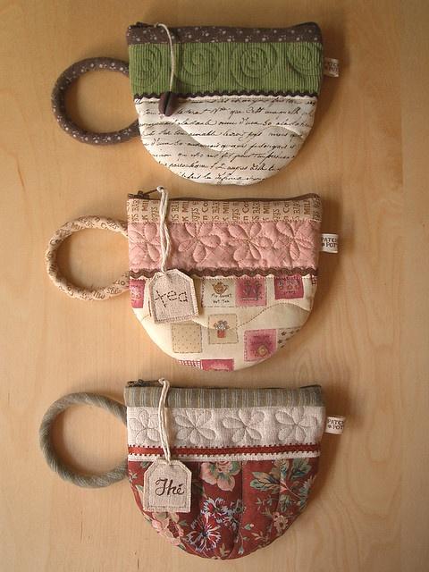 Tea cups  would be cute as a mug rug
