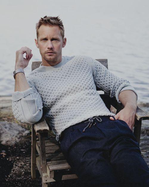 """skarsgardaddict: """"Alexander Skarsgård by Andre Wolff for The Sunday Times Style """""""