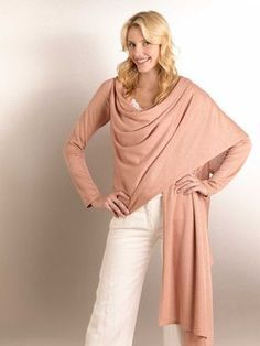 Our downloadable Cardi-Wrap in an hour is stylish and easy to make. Has some tips on customizing the fit.