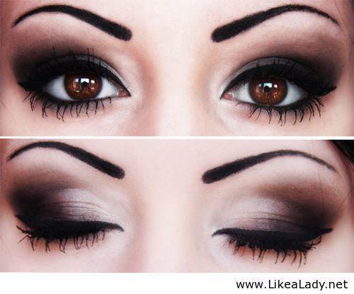 Pretty dramatic eye make up