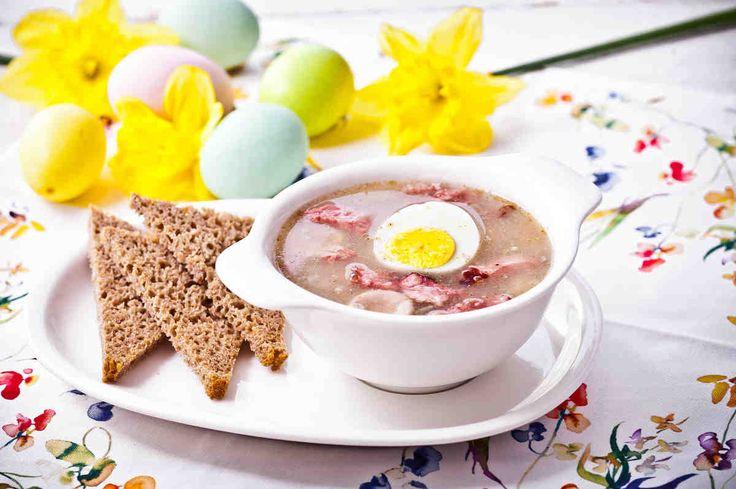 Wielkanocny żur z chrzanem na wędzonce. #żurek #jajka #jajko #zupa #kiełbasa  #smacznastrona #tesco #przepisy #przepis #wielkanoc #tradycja