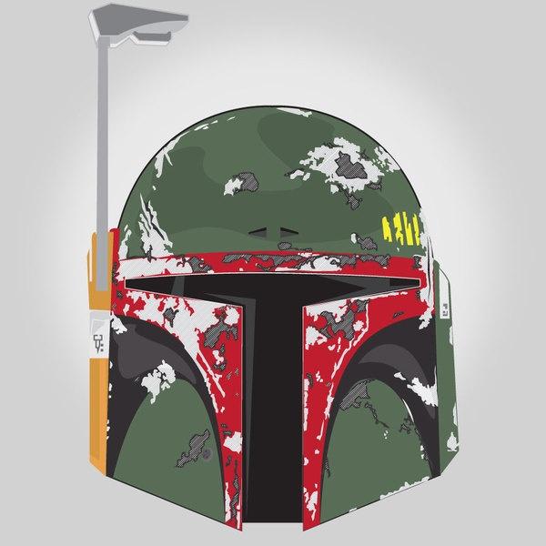 The Dented Helmet of Boba Fett Created by Kenneth...