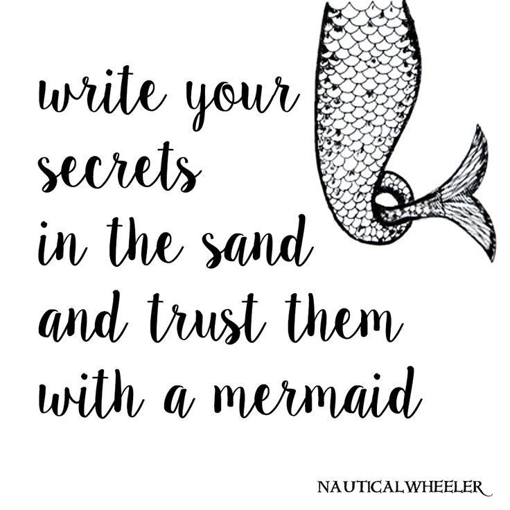 Write your secrets in the sand and trust them with a mermaid. Share with the mermaids you trust! #finfun #mermaids #mermaidtail www.finfunmermaid.com