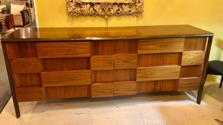 Edmond Spence Modernist Chekerboard Pattern Credenza or Sideboard 2