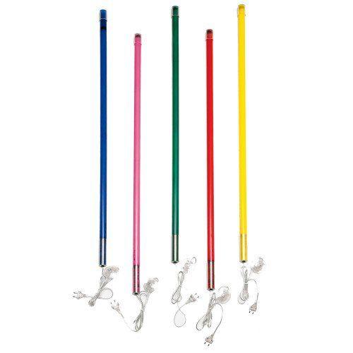 lampe tube n on multicolore sur pied design de maison. Black Bedroom Furniture Sets. Home Design Ideas