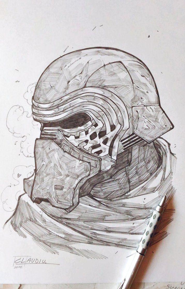 Kylo Ren Sketch by LC-creations on DeviantArt | Star wars ...