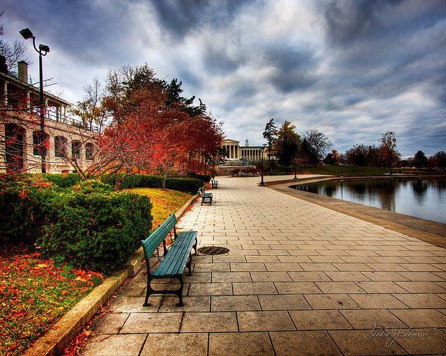 Enjoy a walk around Hoyt Lake in Delaware Park, Buffalo, NY