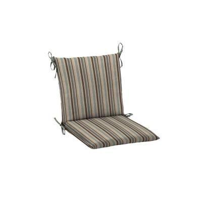 From The Home Depot · Patio Cushion Ideas   Hampton Bay Seaside Stripe  Mid Back Outdoor Chair Cushion   The