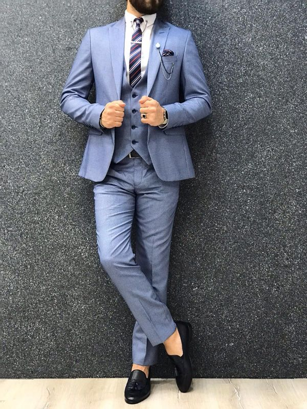 6a0aac61180da Fitmop Ice Blue Slim Fit Suit in 2019   GentWith Classic Style ...