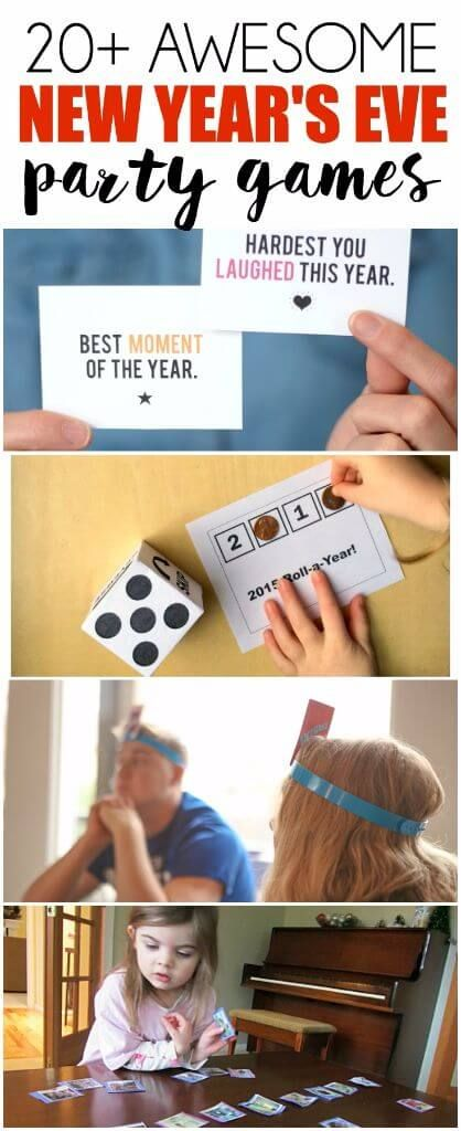 20 of the best New Years Eve party games including new years eve games for adults, new years eve games for teens, new years eve games for family, and even new years eve games for kids! Everything from games with music to funny party games that will keep everyone laughing all night long!