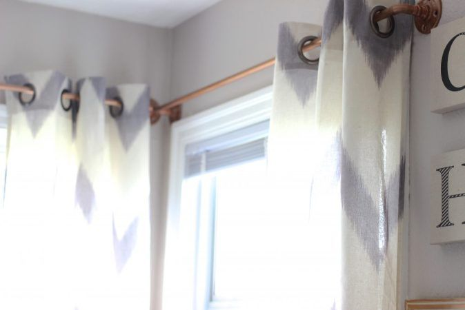 Easy DIY Curtain Rods, Make West Elm Curtain Rods, DIY Curtain Rods, Copper Curtain Rods
