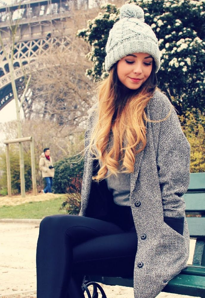 Zoella black leather leggings - love her style and all around cuteness.