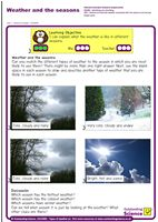 Outstanding Science Year 1 - Seasonal changes   Weather and the seasons