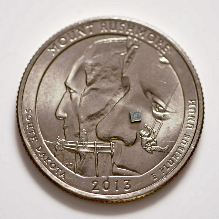 https://flic.kr/p/wk7E4F | MEMS Gyroscope Chip (Marlborough, Massachusetts) | Qualtré's MEMS Chip on a Quarter.