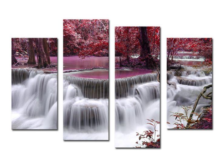 4 шт. мангровые с водопадом современный дом декор стены холст картина картина HD печать живопись из 4 каждого холст искусства без рамы купить на AliExpress