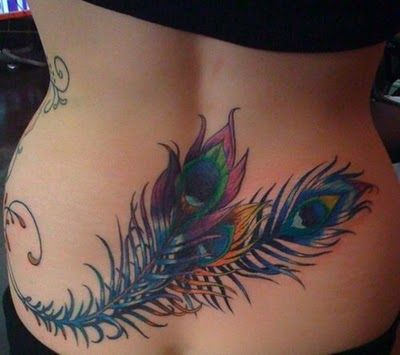 I like how colorful this is.  I only have 1 tattoo w color: Tattoo Ideas, Peacock Feathers, Peacock Feather Tattoo, Body Art, Tattoo Design, Peacocks Feathers Tattoo, Feather Tattoos, Peacocks Tattoo, Lower Back Tattoo