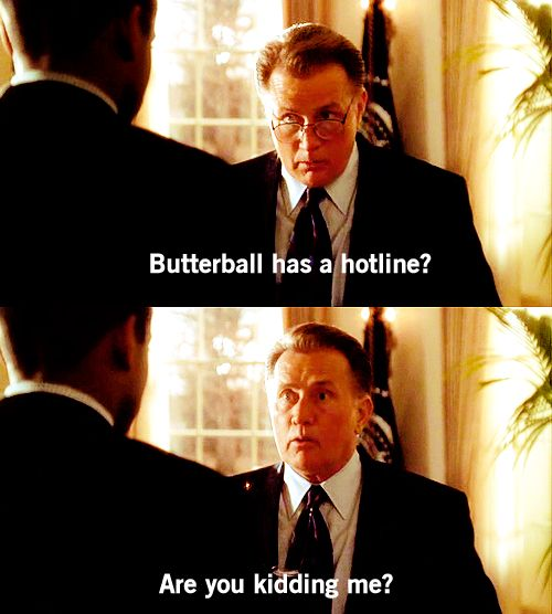 butterball hotline, martin sheen, president bartlet, the indians in the lobby, the west wing