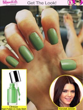 Kendall Jenner Green Nails