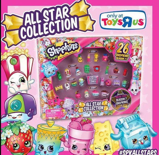 SHOPKINS ALL STAR COLLECTION All seasons even 7 Mystery Edition Collector Case